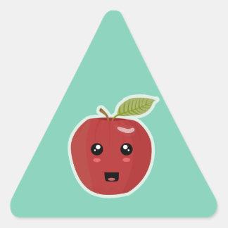 Kawaii Apple Triangle Sticker