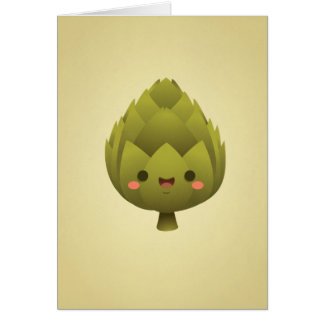 Kawaii Artichoke Card