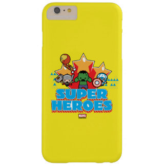 Kawaii Avenger Super Heroes Graphic Barely There iPhone 6 Plus Case