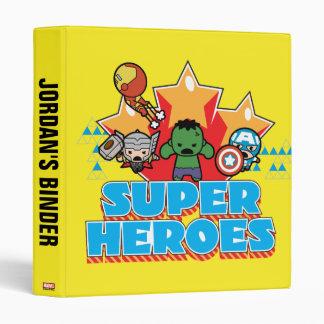 Kawaii Avenger Super Heroes Graphic Binder