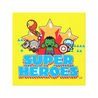 Kawaii Avenger Super Heroes Graphic Canvas Print