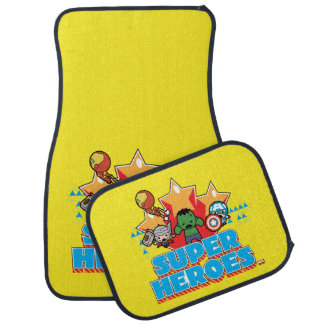Kawaii Avenger Super Heroes Graphic Car Mat