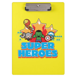Kawaii Avenger Super Heroes Graphic Clipboard