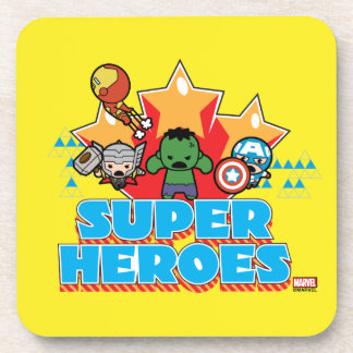 Kawaii Avenger Super Heroes Graphic Coaster
