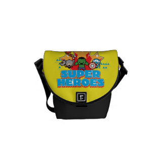 Kawaii Avenger Super Heroes Graphic Courier Bag