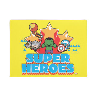 Kawaii Avenger Super Heroes Graphic Doormat