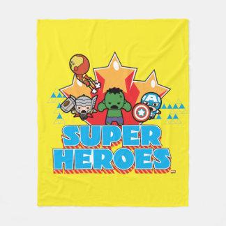 Kawaii Avenger Super Heroes Graphic Fleece Blanket