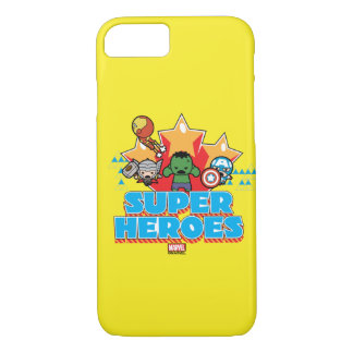 Kawaii Avenger Super Heroes Graphic iPhone 8/7 Case