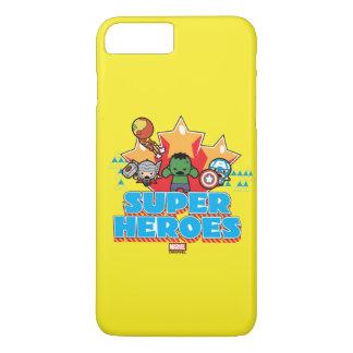 Kawaii Avenger Super Heroes Graphic iPhone 8 Plus/7 Plus Case