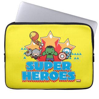 Kawaii Avenger Super Heroes Graphic Laptop Sleeve