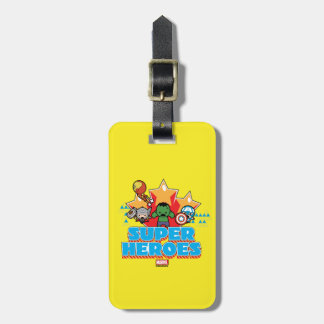 Kawaii Avenger Super Heroes Graphic Luggage Tag