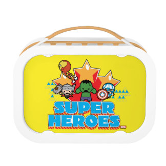 Kawaii Avenger Super Heroes Graphic Lunch Box