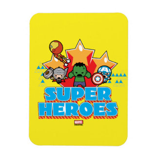 Kawaii Avenger Super Heroes Graphic Magnet