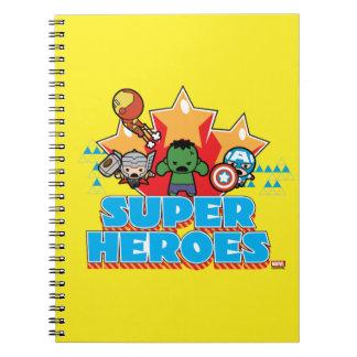 Kawaii Avenger Super Heroes Graphic Notebook