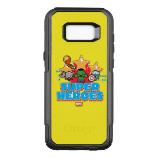 Kawaii Avenger Super Heroes Graphic OtterBox Commuter Samsung Galaxy S8+ Case