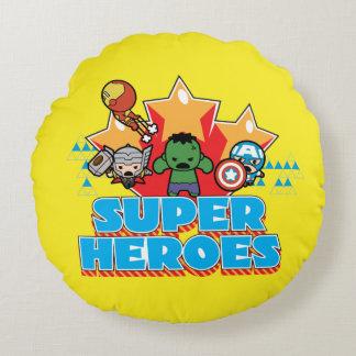 Kawaii Avenger Super Heroes Graphic Round Pillow