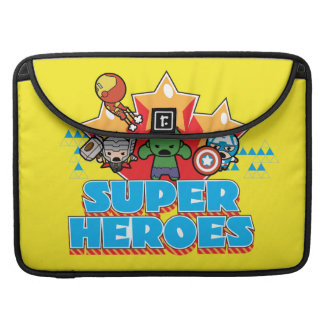 Kawaii Avenger Super Heroes Graphic Sleeve For MacBook Pro