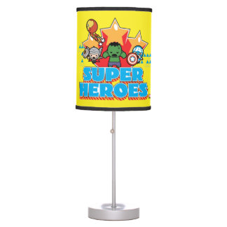 Kawaii Avenger Super Heroes Graphic Table Lamp