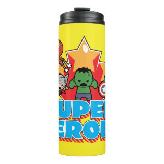 Kawaii Avenger Super Heroes Graphic Thermal Tumbler
