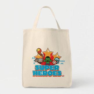 Kawaii Avenger Super Heroes Graphic Tote Bag