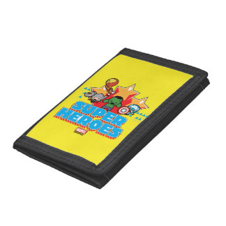 Kawaii Avenger Super Heroes Graphic Tri-fold Wallet