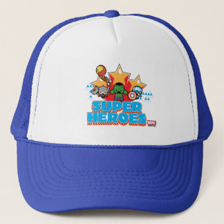 Kawaii Avenger Super Heroes Graphic Trucker Hat