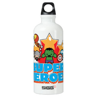 Kawaii Avenger Super Heroes Graphic Water Bottle