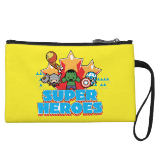 Kawaii Avenger Super Heroes Graphic Wristlet