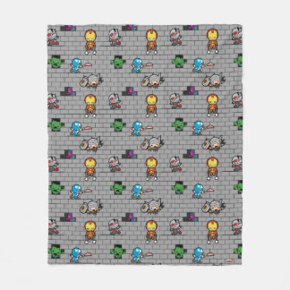 Kawaii Avengers Brick Wall Pattern Fleece Blanket