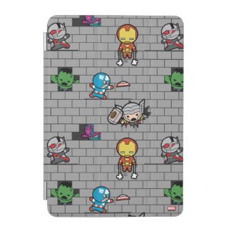 Kawaii Avengers Brick Wall Pattern iPad Mini Cover