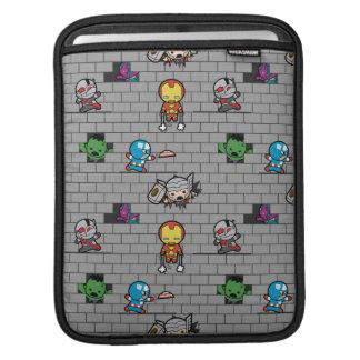 Kawaii Avengers Brick Wall Pattern iPad Sleeve