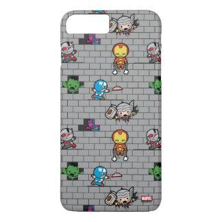 Kawaii Avengers Brick Wall Pattern iPhone 8 Plus/7 Plus Case