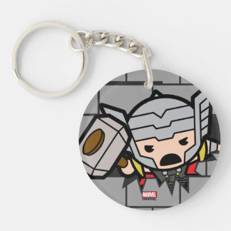 Kawaii Avengers Brick Wall Pattern Keychain