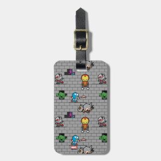 Kawaii Avengers Brick Wall Pattern Luggage Tag