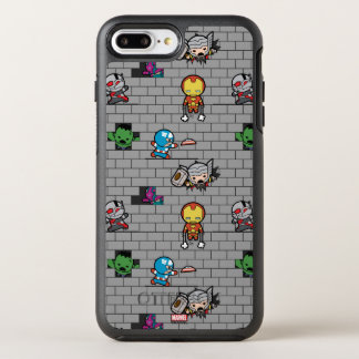 Kawaii Avengers Brick Wall Pattern OtterBox Symmetry iPhone 8 Plus/7 Plus Case