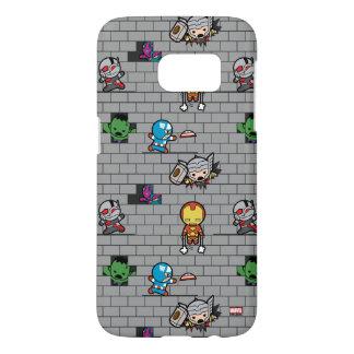 Kawaii Avengers Brick Wall Pattern Samsung Galaxy S7 Case