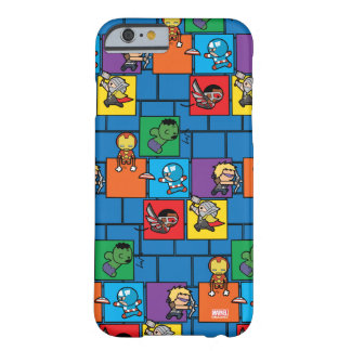 Kawaii Avengers In Colorful Blocks Barely There iPhone 6 Case