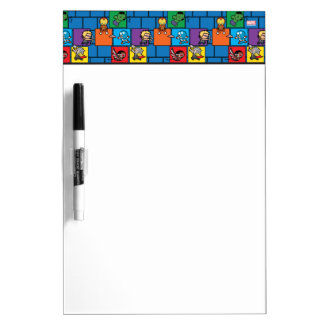 Kawaii Avengers In Colorful Blocks Dry Erase Board