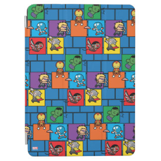 Kawaii Avengers In Colorful Blocks iPad Air Cover