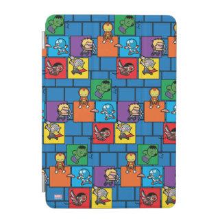 Kawaii Avengers In Colorful Blocks iPad Mini Cover