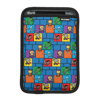 Kawaii Avengers In Colorful Blocks iPad Mini Sleeve