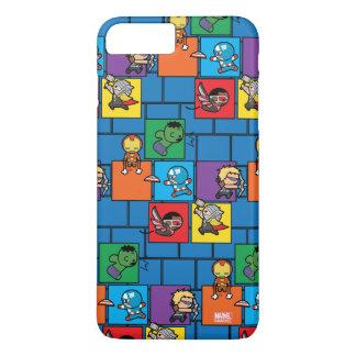 Kawaii Avengers In Colorful Blocks iPhone 8 Plus/7 Plus Case