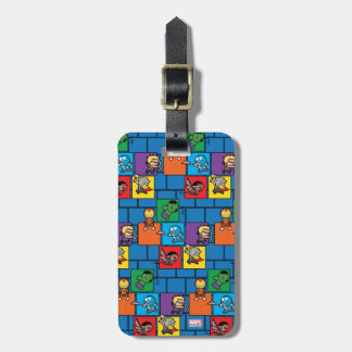 Kawaii Avengers In Colorful Blocks Luggage Tag