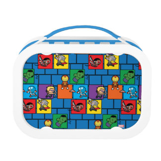 Kawaii Avengers In Colorful Blocks Lunch Box