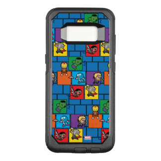 Kawaii Avengers In Colorful Blocks OtterBox Commuter Samsung Galaxy S8 Case