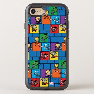 Kawaii Avengers In Colorful Blocks OtterBox Symmetry iPhone 8/7 Case
