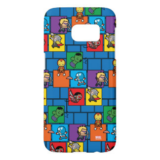 Kawaii Avengers In Colorful Blocks Samsung Galaxy S7 Case
