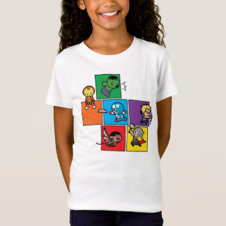 Kawaii Avengers In Colorful Blocks T-Shirt