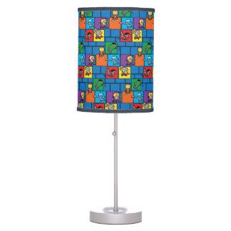 Kawaii Avengers In Colorful Blocks Table Lamp