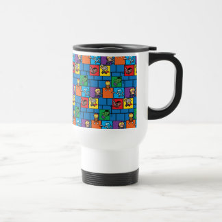 Kawaii Avengers In Colorful Blocks Travel Mug